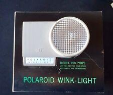 Vintage Polaroid Wink Light Model 250 In Original Box