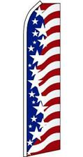 Super 15' Ft Swooper Star Spangled Usa Flag advertizing Tall Sign Super #572