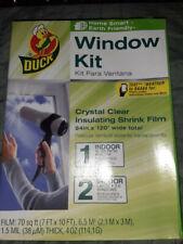 NEW SEALED DUCK WINDOW KIT INSULATING SHRINK FILM WINDOWS HEAT PROTECTION