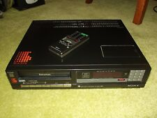SONY Betamax VCR Video Player/Recorder SL-C30 UB +Remote Control - Fully working
