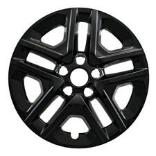 "16"" Black Wheel Skins Hubcaps FOR 2018 2019 Jeep Compass (Set of 4)"