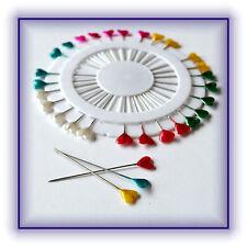 30 Stück Stecknadeln Nadeln Herznadeln Herz farbig bunt Pinnnadeln Basteln Neu