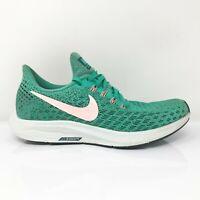 Nike Womens Air Zoom Pegasus 35 942855-300 Green Black Running Shoes Size 7.5