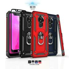 for T-MOBILE REVVLRY / REVVLRY PLUS, [Ring Series] Phone Case Kickstand Cover