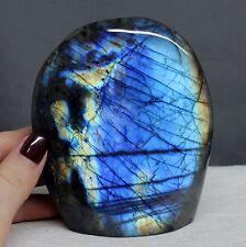 "3.99"" Amazing Rainbow Flash Labradorite Freeform Reiki Stone, Lbt117"