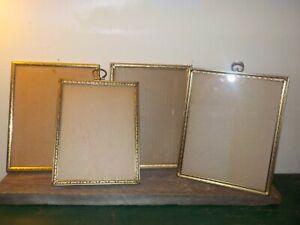 Vintage Antique Metal Gold and Silver Ornate Picture Frames Original 4 in lot