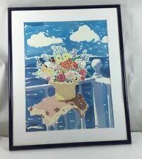 Framed John Botz 20th Century American Signed  Print Floral Still Life