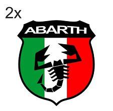 Sticker plastifié ABARTH SCORPION Italie - Fiat 500 Punto coupé - 6cm x 6,5cm