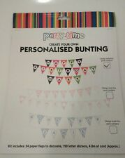 PARTY Time crea il tuo KIT Personalizzato Bandierine Multi Color