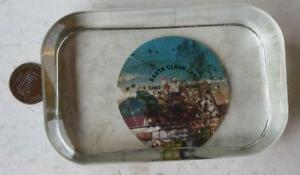 1950-60s Era Southern Indiana Santa Claus Land souvenir glass paperweight-CUTE!*