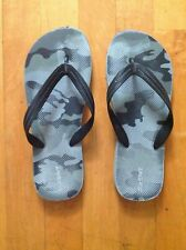 OLD NAVY Camouflage  Flip-Flops Thong Sandals Gray/Black Size 5-6