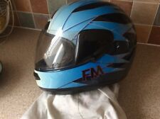 Fm Force One Full Face Motorcycle Helmet (L)