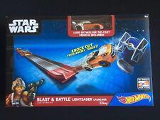 Hot Wheels Blast & Battle Lightsaber Launcher Luke Skywalker Star Wars New