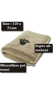 Microfibre Super Absorbent Pet Towel Dog Puppy Cat Kitten Pet Fast Drying
