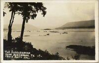 RPPC Susquehanna River Near Duncannon Above Amity Hall Pennsylvania PA Postcard