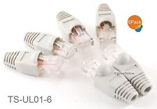 6-Pack 10/100 Ethernet Loopback Plug, Pinout 1-to-3, 2-to-6, Gray Ts-Ul01-6