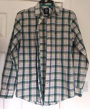 Crew CLOTHING Co da Uomo. COTONE Casual camicia taglia small Classic Fit in buonissima condizione