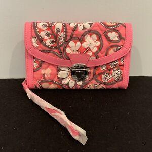 Vera Bradley Ultimate Wristlet / Wallet Blush - Pink & White - NWT Faux Leather