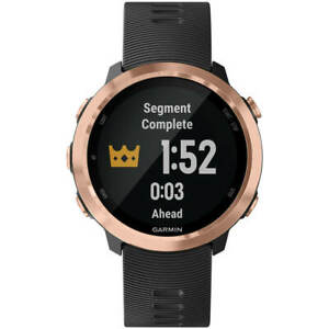 Garmin Unisex Smartwatch Forerunner 645 Music Rose Gold Bezel Strap 010-01863-23