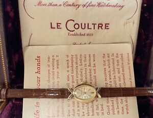 beautiful vintage lecoultre ladies swiss made watch with box & papers 🇨🇭