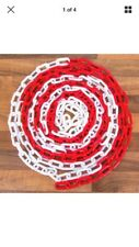 8 x 2.5 meters barrier Plastic Chain red/white