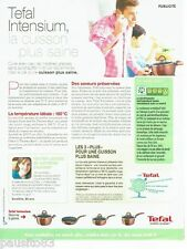 PUBLICITE ADVERTISING 116  2011   Tefal  Intensium casserole poele cuisson saine