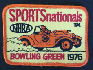 1976 National Hot Rod Assoc. Sports Nationals Bowling Green Embroidered Patch MI
