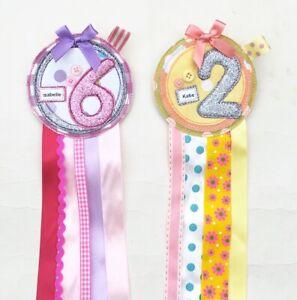 Handmade Birthday Badge Rosette, Personalised For You