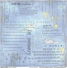 Scrapbook Customs - In Memory Quotes Scrapbooking Paper - 35569