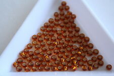 Silver Lined Dark Gold Preciosa Seed Beads. Size 8 3mm. 400 beads approx. #7970