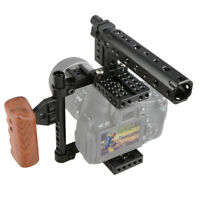 Camera Cage Stabilizer Rig Top Handle Tripod Mount Plate fr Canon Nikon Sony