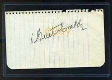 BUSTER CRABBE Vintage Signed Autographed Notebook Page -Flash Gordon Buck Rogers