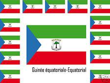 Assortiment lot de 25 autocollants Vinyle drapeau Guinée équatoriale Guinea