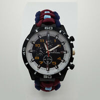 Paracord Watch with Royal Air Force Regiment RAFR Colours a Great