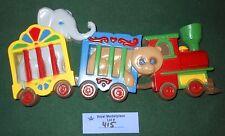 Vintage Burwood Circus Train Kids Wall Plaque Nursery Children Decor
