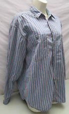 Levis Striped Button Up Shirt Mens Small Blue Red Pinstripe Levi Jeans
