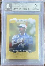 2014 UD Golf Exquisite #ESM-MJ Michael Jordan Signature Masterpiece Auto BGS 9