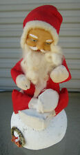 "Vintage Rubber Face Stuffed Santa 10"" on Paper Mache Base Candy Container?"