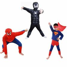 Spiderman Batman Superman Niño Niño Adulto Disfraz Hombre Fiesta Cosplay Traje