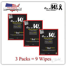 Once A Week Weekly Deodorant Zero Body odor 120HR+ (3 packs 9 Disposable wipes)