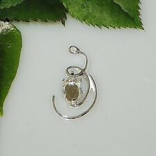 8x6 Oval Curl Design Sterling Silver Snap Tite Dangle Drop Setting (Right)