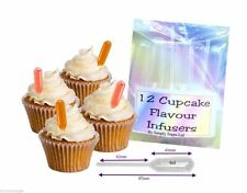 12 Cupcake Flavor Infusers soft plastic pipettes 4ml cake decoration