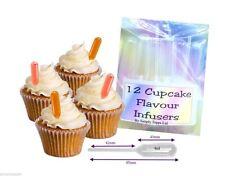 12 cupcakes de sabor Infusores suave plástico Pipetas 4ml para Decoración de Pasteles