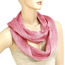 Pink Shimmer Infinity Scarf