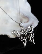 Sterling Silver 925 Butterfly Pendant 16/18 Inch Necklace Chain Teacher Gift Box
