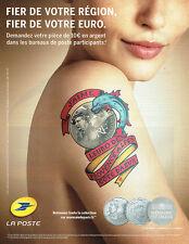 Publicité Advertising 018  2011  La Poste monnaie Paris Paca l'euro