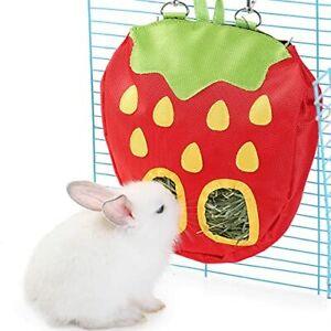 JanYoo Rabbit Hay Feeder for Cage Guinea Pig Accessories Hay Dispenser Storag...
