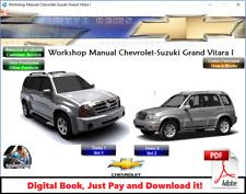 FACTORY SERVICE REPAIR MANUAL FSM SUZUKI GRAND VITARA XL5 & XL7 1997 - 2005