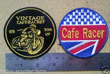 2 CAFE RACER ISLE OF MAN NO REST TIL THE GP! PATCH TRIUMPH jacket parts for sale