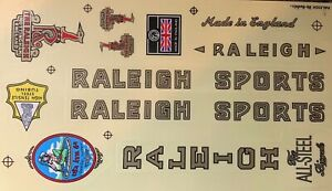 Raleigh Bicycle Stickers for Vintage Raleigh Bicycle - Type I
